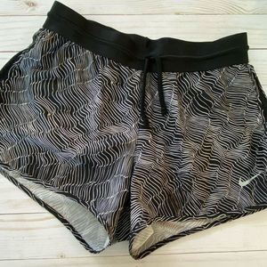 Black and White Nike Dri Fit Activewear Shorts
